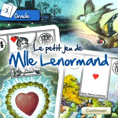Tirage gratuit de l'Oracle de Mademoiselle Lenormand
